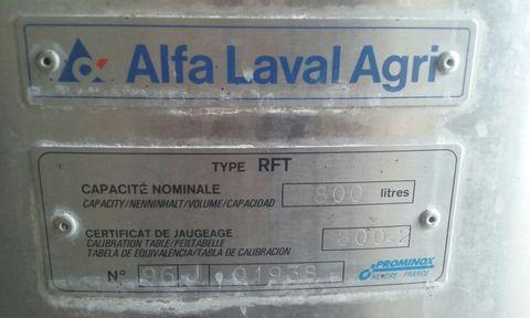 De Laval  800lt. Kühlwanne