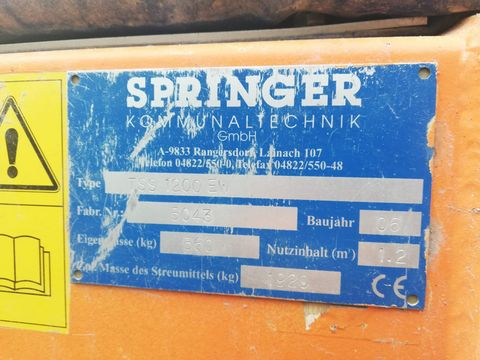 Springer TSS 1200 EW Selbstlade-Tellerstreuer