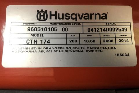 Husqvarna Rasentraktor Husqvarna CTH 174 mit Schneeschild