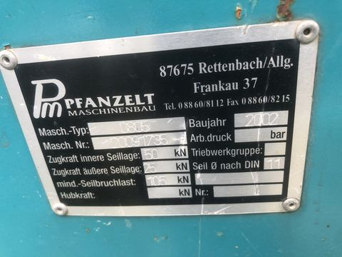 Pfanzelt Pfanzelt Typ 0805 Forstseilwinde