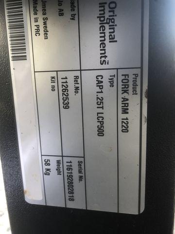 Alö Palettengabel 2500 kg 1200mm Zinken,