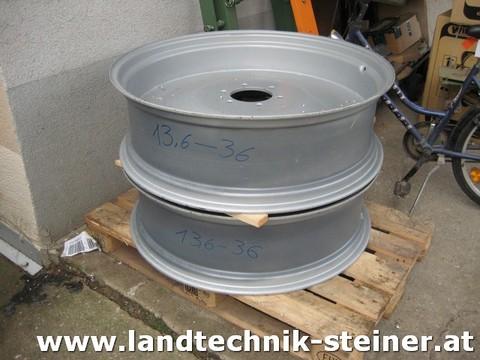 Trinker Neue Felgen für 13.6 R36 Reifen