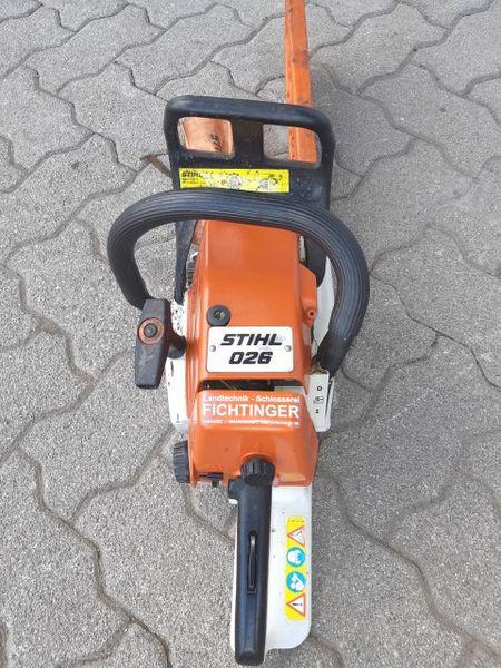 Stihl 026 - J  Fichtinger e U  Landtechnik - Metalltechnik