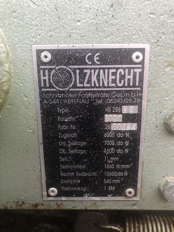 Holzknecht HS 206 BE