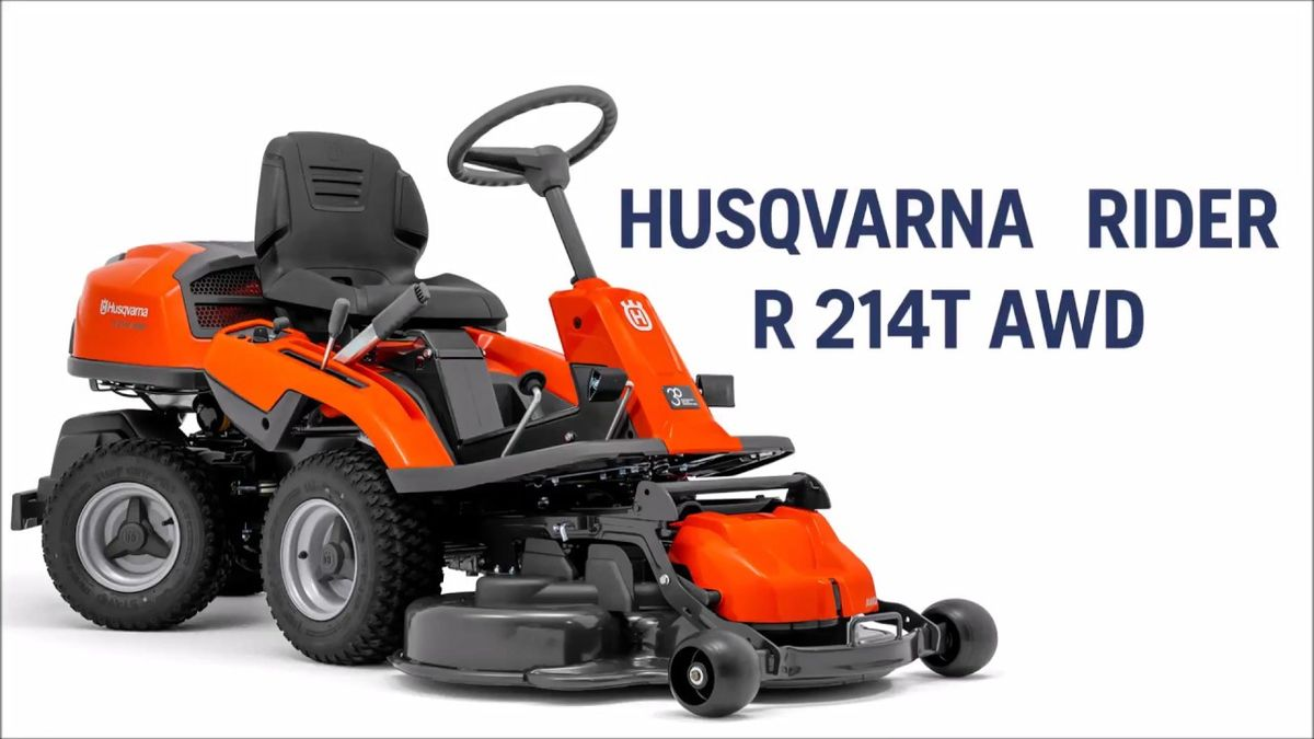 husqvarna rider r214 tawd allrad. Black Bedroom Furniture Sets. Home Design Ideas