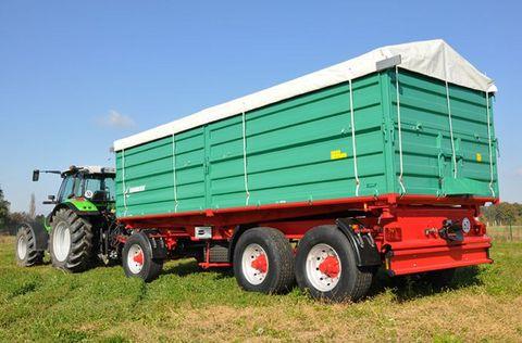 Farmtech DDK-2400 háromteng. pótkocsi (27t) készletről