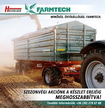 Farmtech pótkocsik SZEZONVÉGI AKCIÓJA!