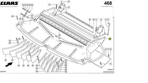 Claas Verteiler Lexion 741003.2