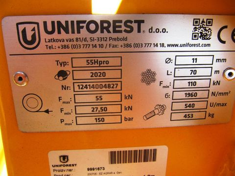 Uniforest UNI 55 HPro BL Stop