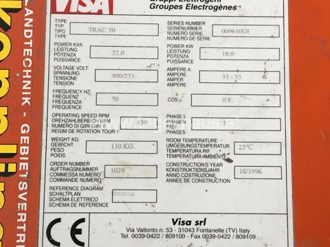 NOTSTROMAGGREGAT TRAC 320 - 22 KVA