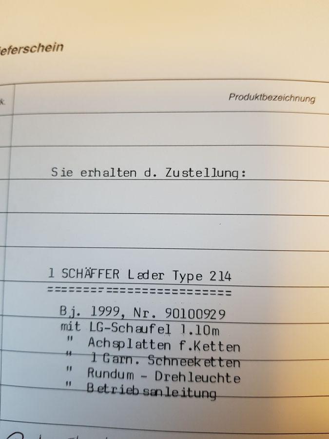 Schäffer 214 - Zusatz-Hydraulikkreis - Gk-maschinenmarkt.com