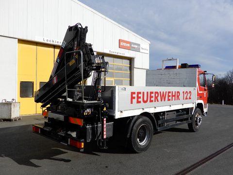 Steyr 16S21 / HIAB 102-4 / Pritschenaufbau/ Bergekreuz
