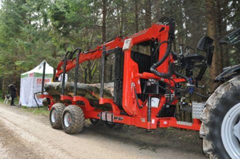 Conpexim Rückewagen RF10EX10t NL, Kran G7000 7m