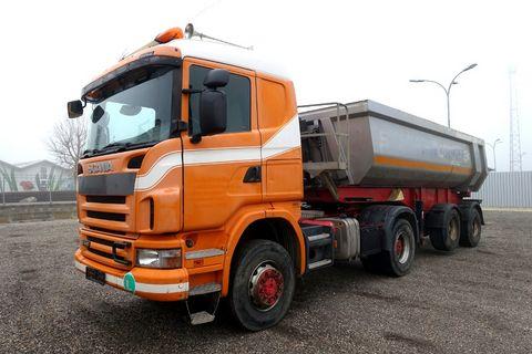 Scania G440 CA4x4HZZ Sattelzugmaschine m. Kippauflieger
