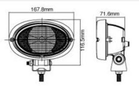 sonstige, Arbeitsscheinwerfer (Aufbau) Oval Single Flood