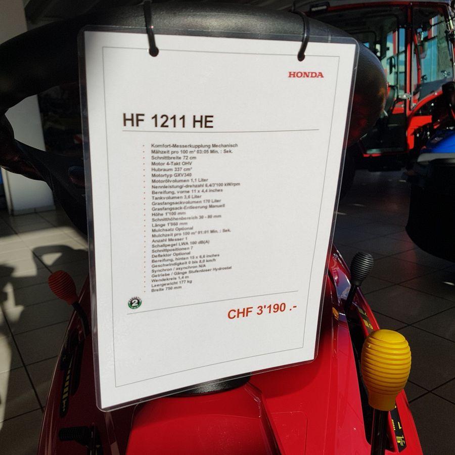Honda, HF 1211 HE, 2019 | Rasentraktor | Agropool
