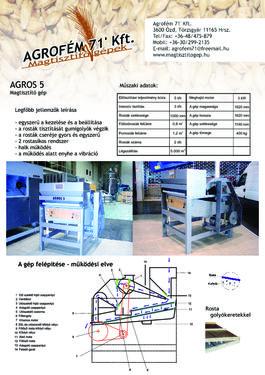 Egyéb Agros 5 magtisztító gép