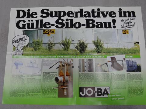 JO-BA gebr. Güllesilo Güllebehälter, 700 m³, feuerverz