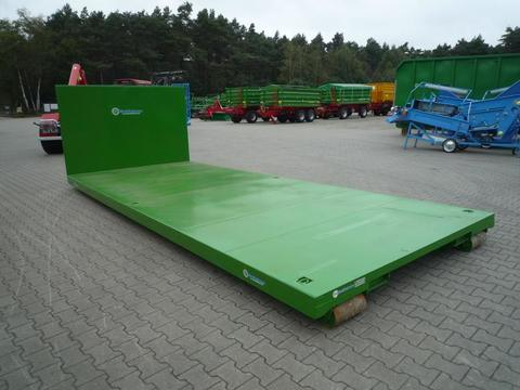 EURO-Jabelmann Container STE 6500/Plattform Abrollcontainer, Hakenliftcontainer, 6,50 m Plat
