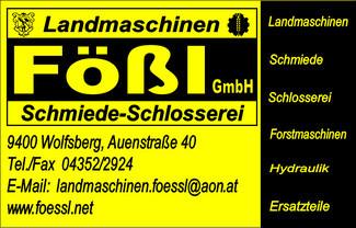 Landmaschinen Fößl GmbH, Landmaschinen, Schmiede, Schlosserei