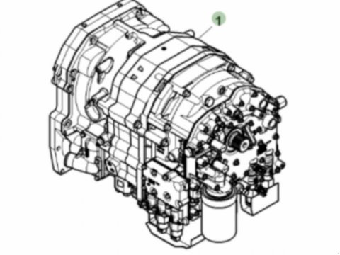 John Deere Getriebe 6310/6410