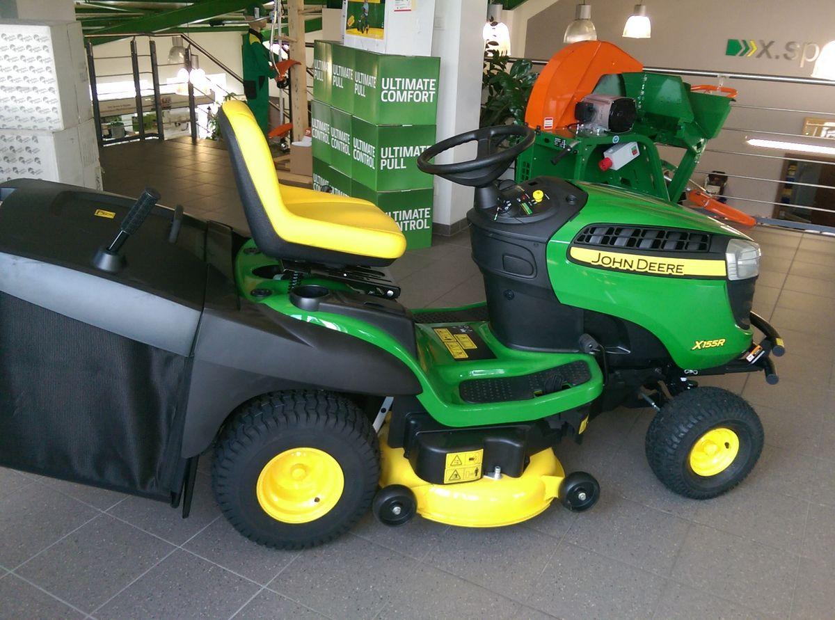 john deere x155r mit grasfangkorb essence tracteurs. Black Bedroom Furniture Sets. Home Design Ideas