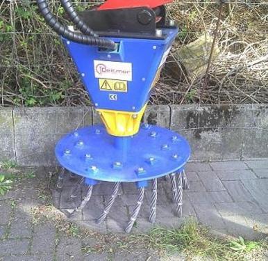 Deitmer DWB600 Wildkrautbesen Radialbesen für Minibager