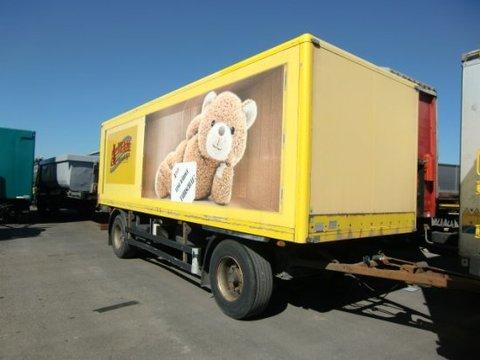 Baranyai Anhängewagen Kofferaufbau mit Hebebühne Fahrschu