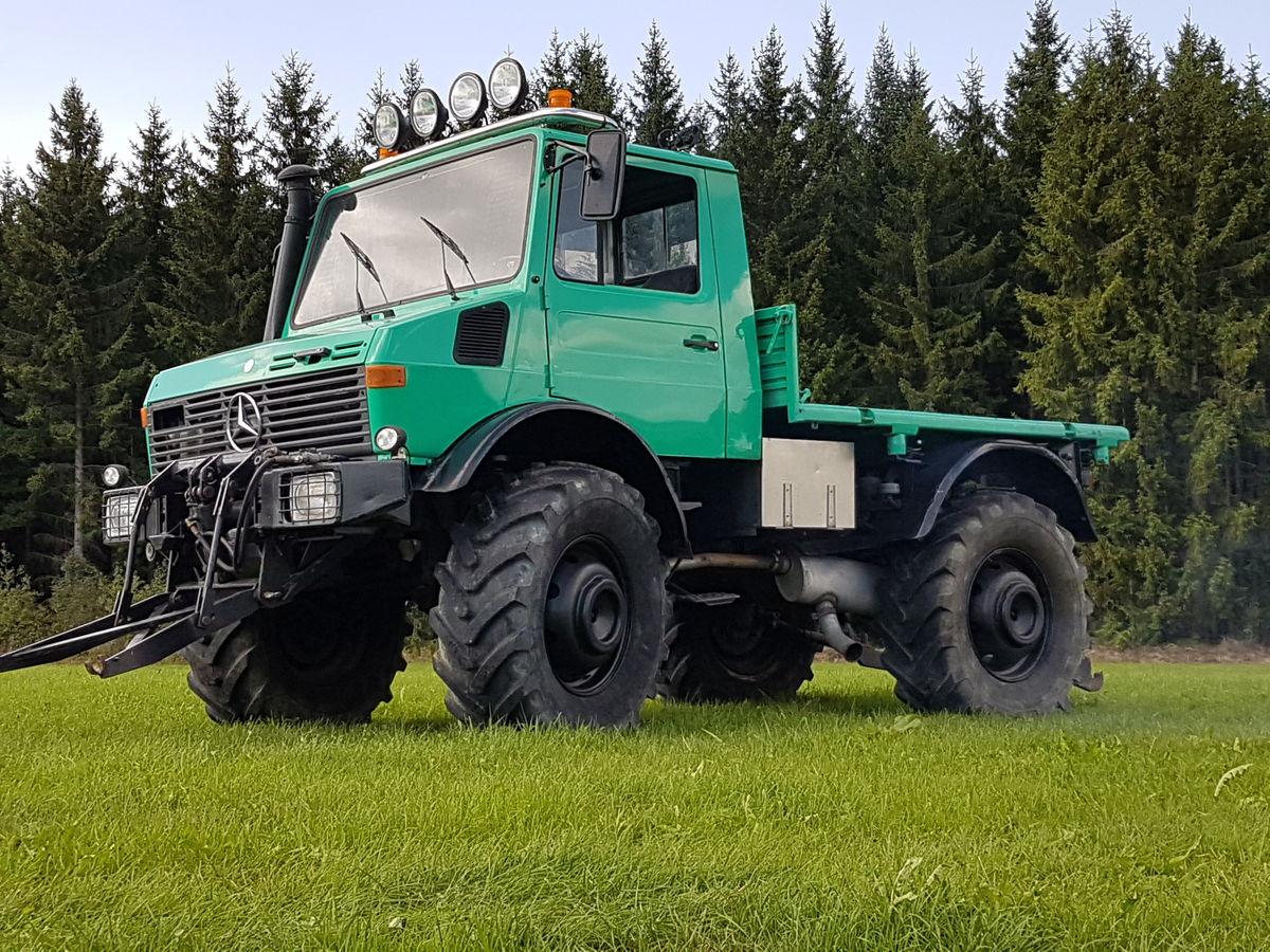 mercedes unimog u 425 1300 scherzinger landtechnik tracteurs. Black Bedroom Furniture Sets. Home Design Ideas