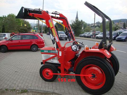 kubota allrad kubota l2402dt mit frontlader 540 1000 chargeur frontal tracteurs. Black Bedroom Furniture Sets. Home Design Ideas