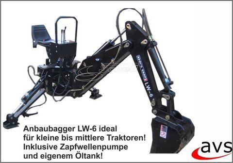 Sonstige Anbaubagger Heckbagger LW-6 für 3-Punkt Anbau