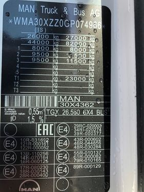 MAN TGX 26.560 6x4 BLS