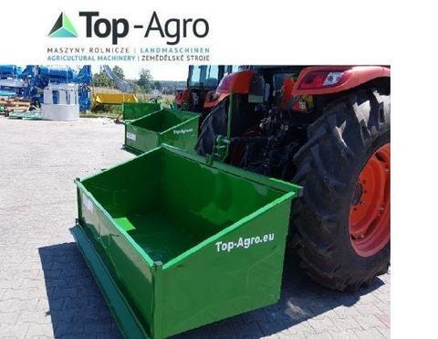 TOP-AGRO Transportbox Premium 1,2 Meter Mechanisch Kippmulde, Heckcontainer,