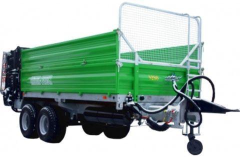 Metal-Fach TOP-AGRO AKTIONSPREIS N280/1 8000kg 9m³ MISTSTREUER mit offene Bordwän