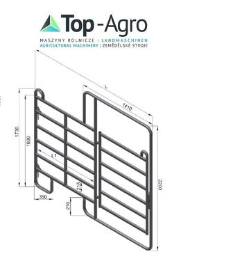 Top-Agro Top-Agro Trennwand Tor Panel 3,0m