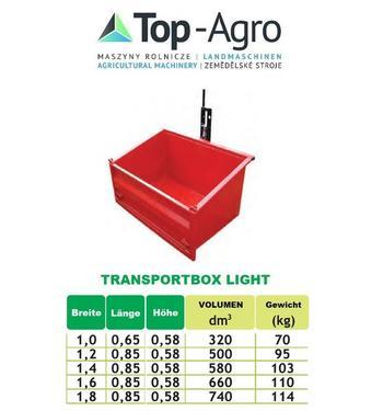 Top-Agro DIREKT VOM HERSTELLER (HCS) Kippmulde, Heckcontainer, Transportbox, 3pkt. LI