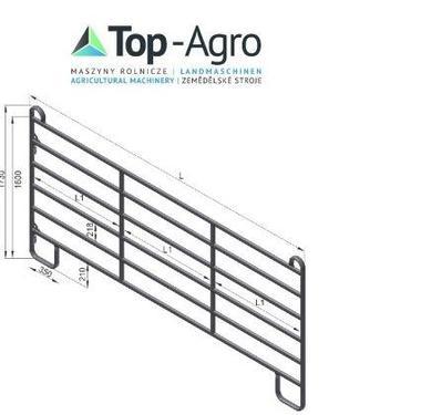 Top-Agro Trennwand Tor Panel 3,0m