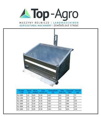 Top-Agro DIREKT VOM HERSTELLER Kippmulde, Heckcontainer, Transportbox, 3pkt. 1,