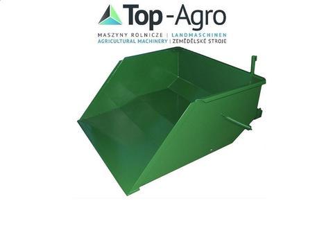 TOP-AGRO Kippmulde, Heckcontainer, Transportbox für Gabelstapler hydr 1,0m-1,5m NEU