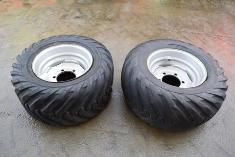 Trelleborg 2 Kompletträder mit Reifen Twin 404 1 x 400/55-1