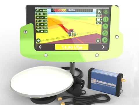 MachineryGuide CM2 RTK GPS sorvezető, nyomkövető