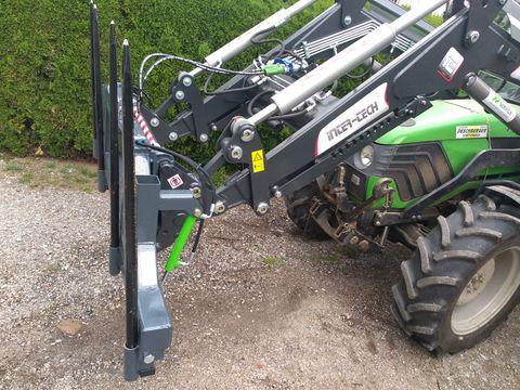 FarmService Doppelte Ballengabel klappbar mit EURO-Aufnahme