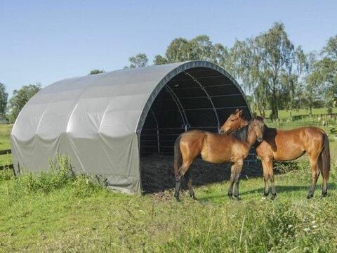 MD Landmaschinen Kellfri Weidezelt Lagerhalle Industriezelt 6 m x