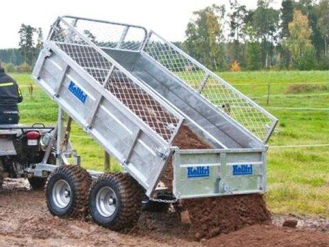 MD Landmaschinen Kellfri Anhänger für Quad/klein Schlepper Heckki