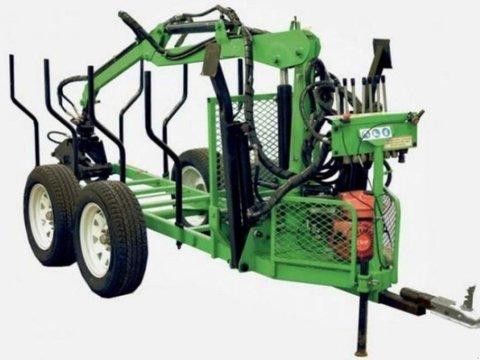 MD Landmaschinen Kellfri   Forstanhänger 2,7 mit Kran und Pumpe
