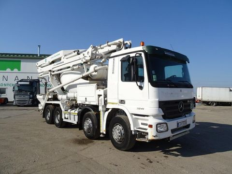 MERCEDES-BENZ BENZ ACTROS 3241 domiešavač 7m3 + beton pumpa pu