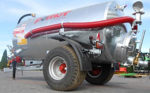 POMOT Single-axial Manure Tank / Beczkowóz wóz aseniza