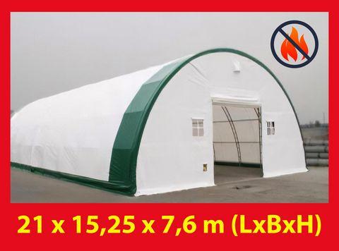 Tentshelter Rundbogenhalle Lagerzelt 15,24 x 21 x 7,30 m NEU