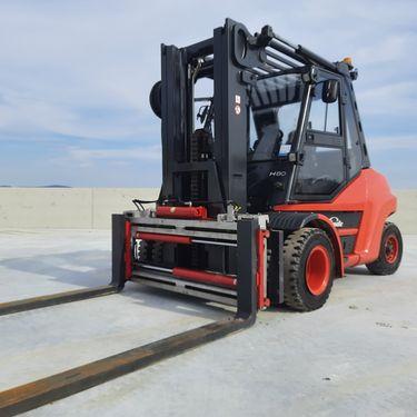 Linde H 80 Diesel Triplex Zinkenverstellgerät