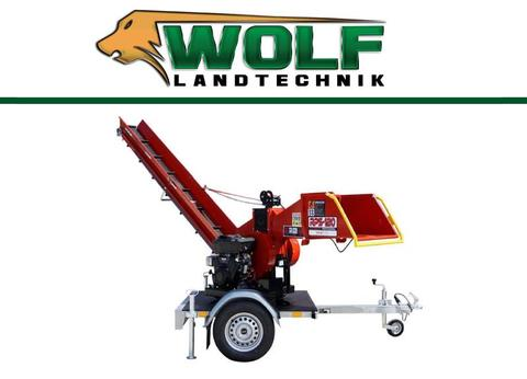 Remet CNC Wolf-Landtechnik GmbH Holzhacker RPS 120   Benzinmotor   16 PS Drehbar